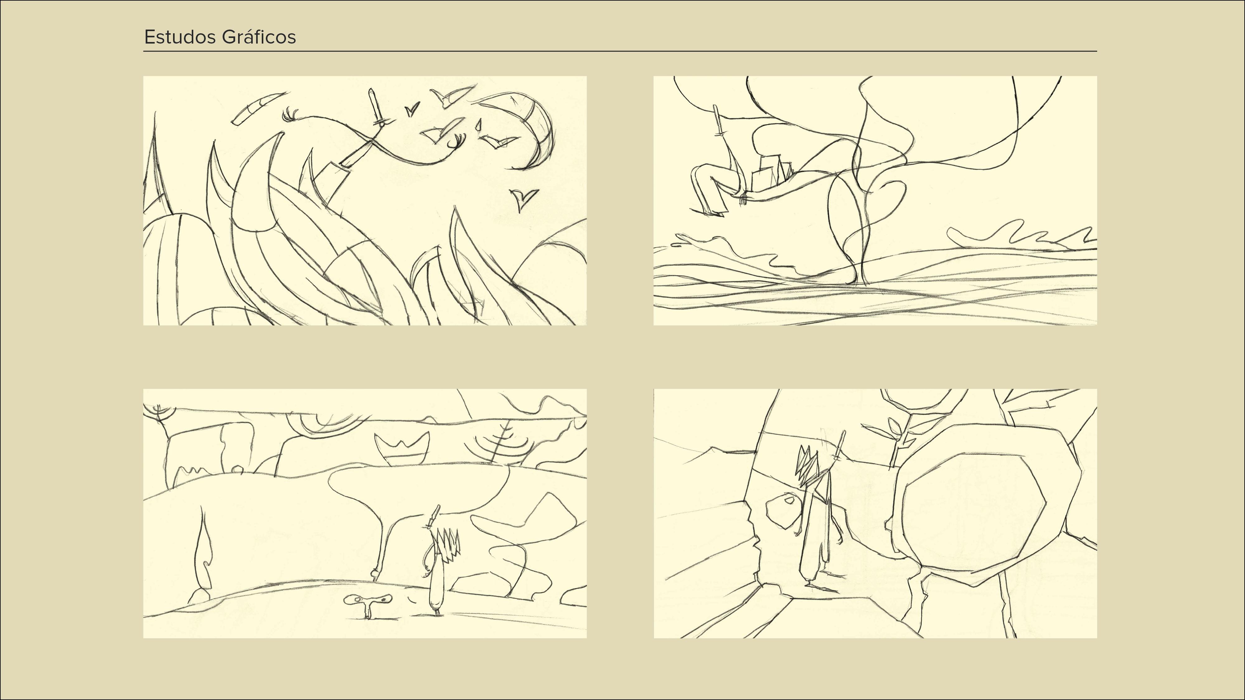 Montagem Desenhos a Cinzento