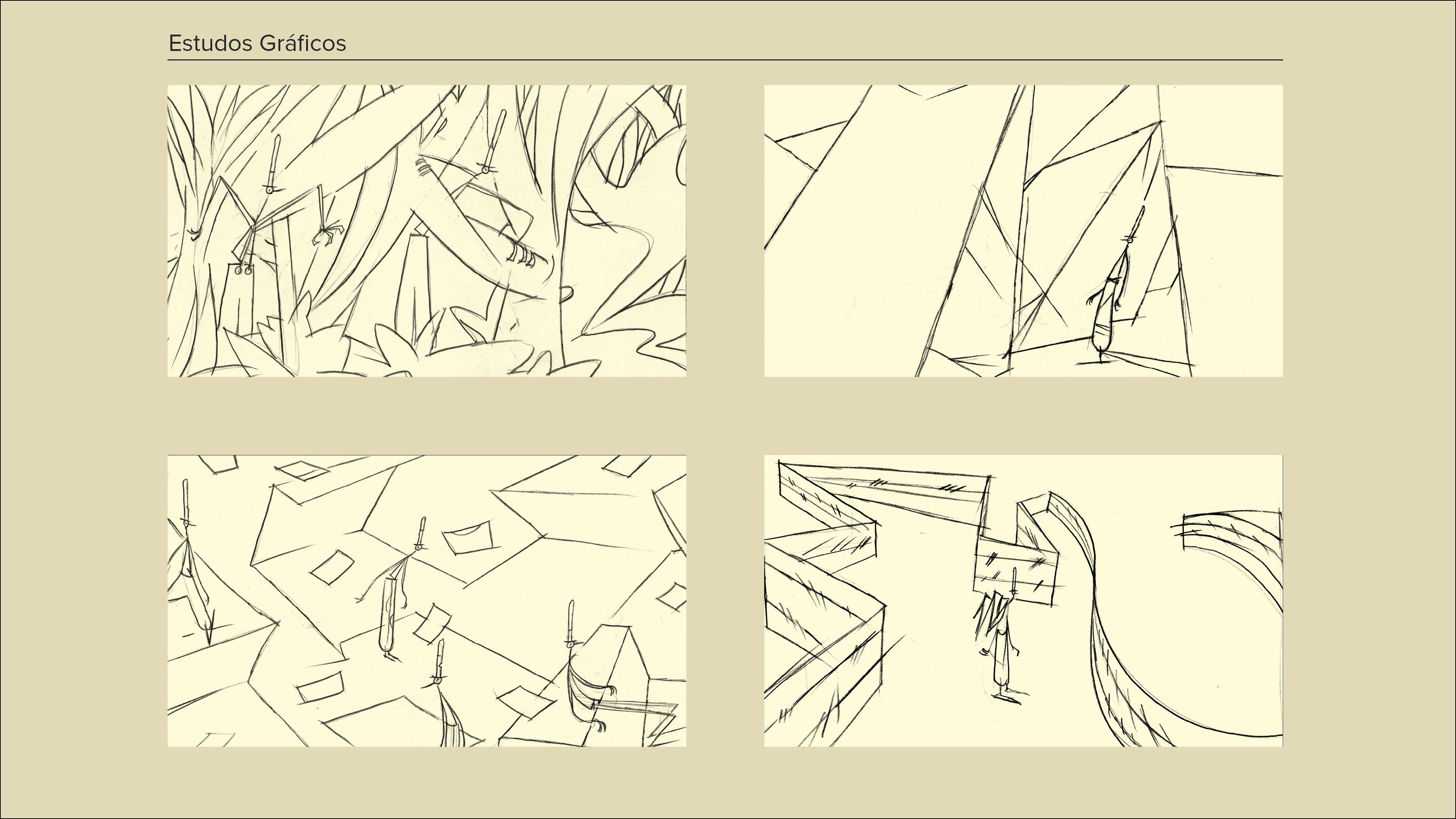 Montagem Desenhos a Cinzento2