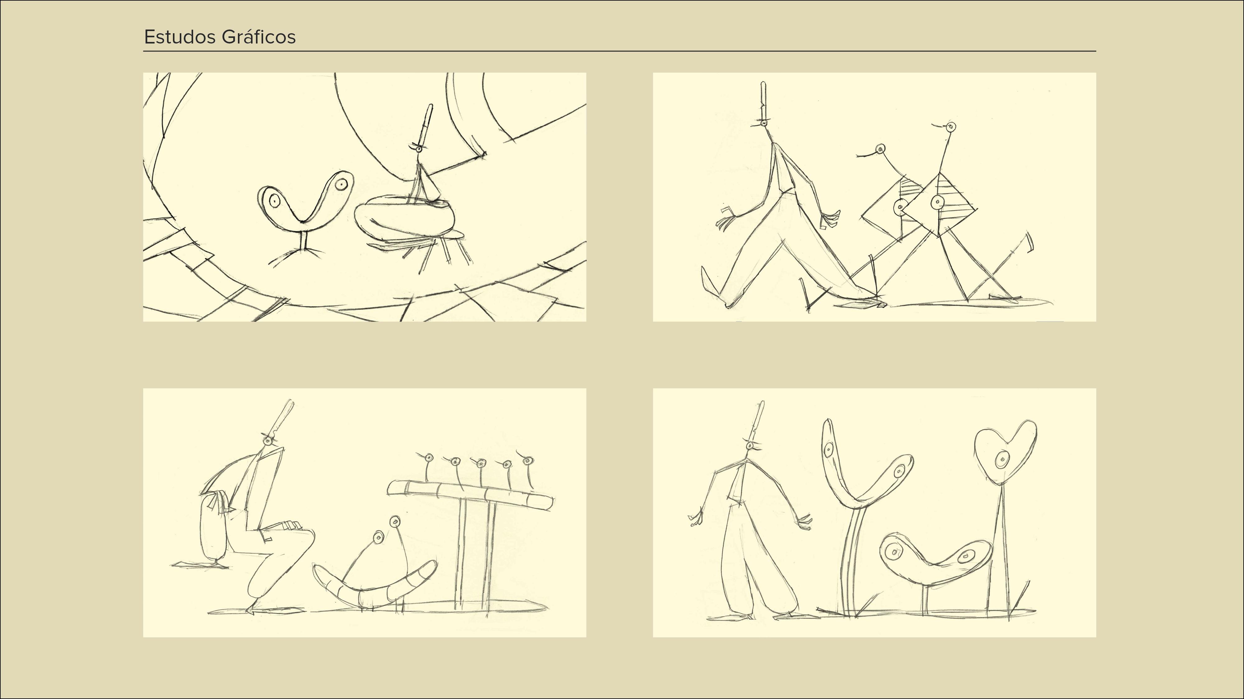 Montagem Desenhos a Cinzento4